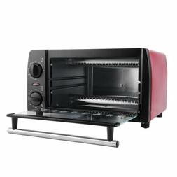 NEW Red Decker 4-Slice Stainless Steel Toaster Oven Christma