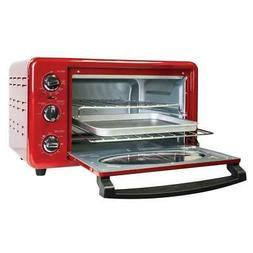 Nostalgia Toaster Oven Red Retro Series 1500-W Adjustable Te