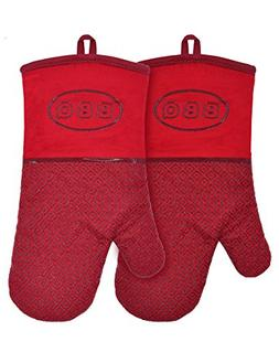 YUTAT Oven Mitts Silicone Oven Mitts Heat Resistant Cooking
