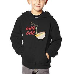 Joapron Pho Sho Kids Long Sleeve Pocket Pullover Hooded Swea