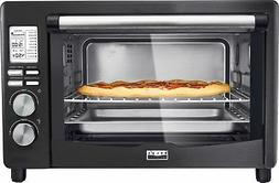 Bella - Pro Series 6-Slice Toaster Oven - Black stainless st