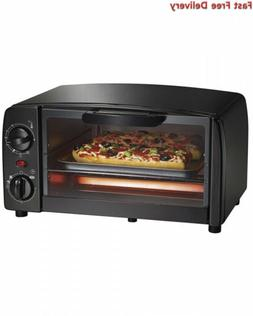 Hamilton Beach Proctor Silex 4-Slice Toaster Oven, Black  On