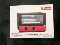 Red Dash DCTO100GBRD04 Compact Toaster Oven with Baking Tray