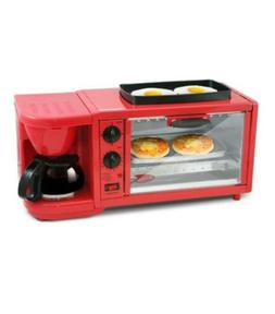 Retro 3 in 1 Breakfast Station Cooker Toaster Oven Kitchen s