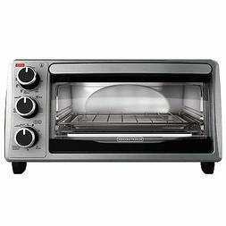 silver countertop oven toaster 4 slice w