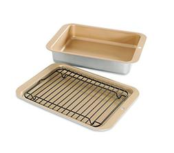 Small Toaster Oven Baking Set Pan Bake Cake Broil Grill Broi