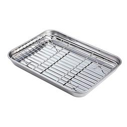 Stainless Baking Sheet with Rack Set Tray Cookie Sheet & Toa