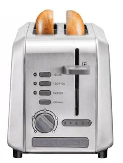 Chefman Stainless Steel 2-Slice Wide Slot Toaster w/Bagel, D