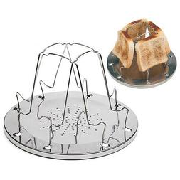 Stainless Steel Toaster Bread Rack Tray Camping Hiking Cooki