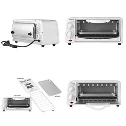 Courant To-621W 2 Slice Compact Toaster Oven With Bake Tray