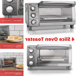 BLACK+DECKER  4-Slice Toaster Oven with Natural Convection,