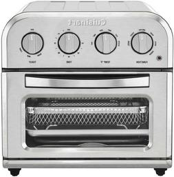 Cuisinart TOA-28 Compact Toaster Oven Airfryer, Silver, Bran