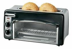 Toastation 2-Slice Toaster and Countertop Oven, Black
