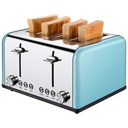 Toaster 4 Slice, CUSIBOX Extra Wide Slots Toaster with BAGEL