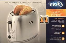 Oster Toaster Brushed Stainless Steel 2 Slice Extra-Wide Slo