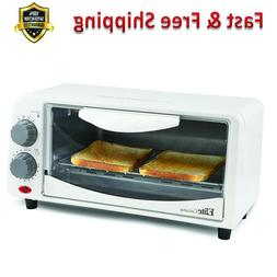 Toaster Oven 2 Slice 15 Minute Timer Tempered Glass Door Pow