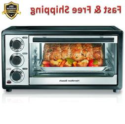 Toaster Oven 6 Slice Slide Out Crumb Tray Timer with Auto Sh