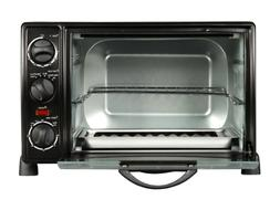 Toaster Oven Broiler 60-Minute timer Drip Pan 6 Slice 0.8 cu