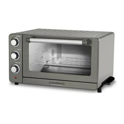 toaster oven broiler with convection black stainless