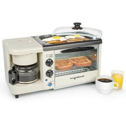 Toaster Oven Coffee Maker Griddle Grill Breakfast Station Sm