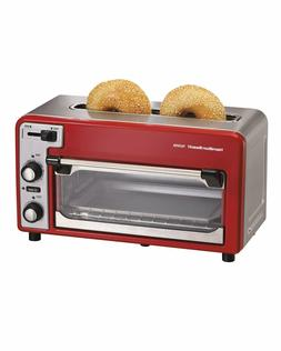 small kitchen appliance red combination two slice
