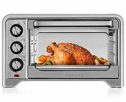 Toaster Oven, Countertop Convection Stainless Steel Oven W/V