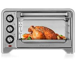 Chefman Toaster Oven, Countertop Convection Stainless Steel,
