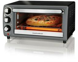 Hamilton Beach Toaster Oven In Charcoal |   Bake Bread Pizza