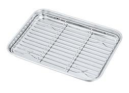 P&P CHEF Toaster Oven Pan with Rack Set, Stainless Steel Bro