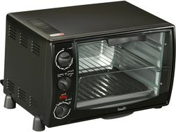 Toaster Oven W/ 3 Rack Position Adjustable Thermostat Black