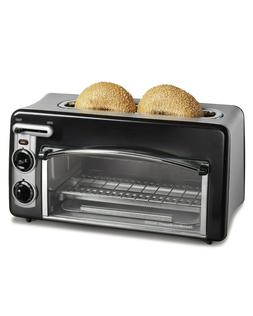 ToastStation 2 in 1 2 Slice Toaster Oven in Black fits 2 16