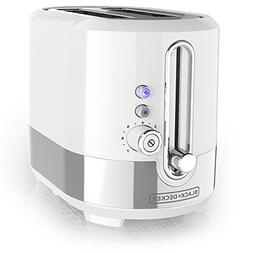 Black & Decker TR2200SWD Extra-Wide Slot 2-Slice Toaster, Wh