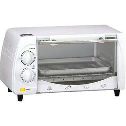 Brentwood Ts-345W 9-Liter 4 Slice Toaster Oven Broiler White