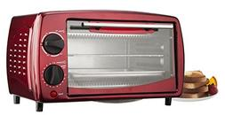 "Brentwood TS-345R 14.5"" X 9.5"" X 8.5"" Red 4 Slice Toaster O"