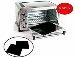 """TWO-PACK 100% Non-Stick 11"""" Toaster Oven Liner. Finally, P"""