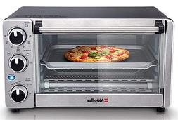 Toaster Oven 4 Slice Multi Function Stainless Steel