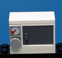 Lego white microwave or toaster oven for Minifigure Accessor