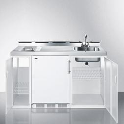 """60"""" Wide All-In-One Kitchenette  - White"""