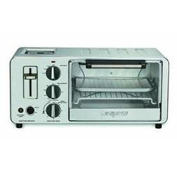Waring WTO150 4-Slice Toaster Oven with Built-In 2-Slice Toa